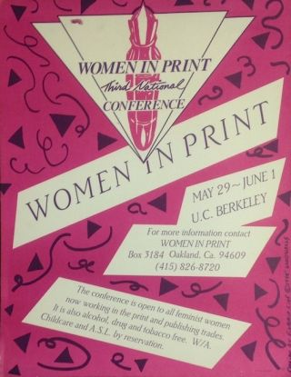 Women in Print. Third national conference [poster