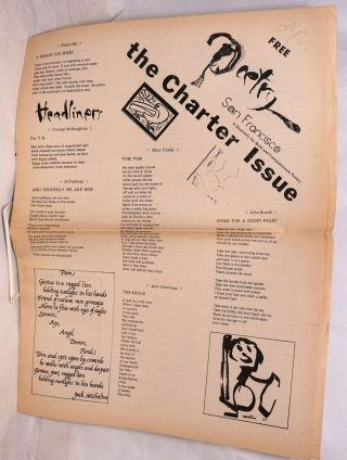 Poetry San Francisco. Charter issue. Robert Bly, Diane de Prima, Julia Vinograd, Jack Micheline,...