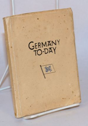 Germany To-Day with the Compliments of the Norddeutscher Lloyd, 1925/26 Edition