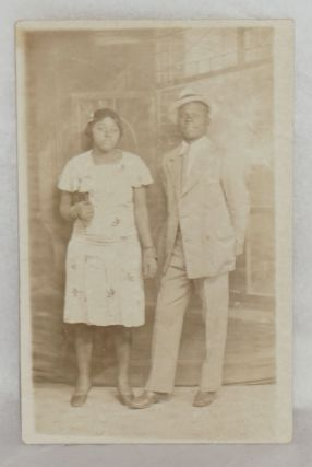 Postcard with African American man and woman