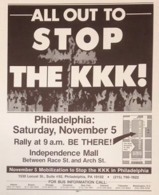 All out to stop the KKK! [poster