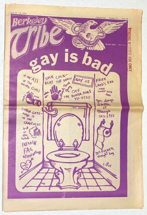 Berkeley tribe: vol. 2, no. 24, issue 50, June 19-26, 1970; Gay is Bad. Red Mountain Tribe