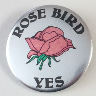 Rose Bird Yes [pinback button