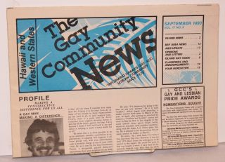 Gay Community News: Hawaii and Western States; vol. 17, no. 9 September 1990