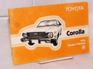 Toyota Corolla 1976 Owner's Manual