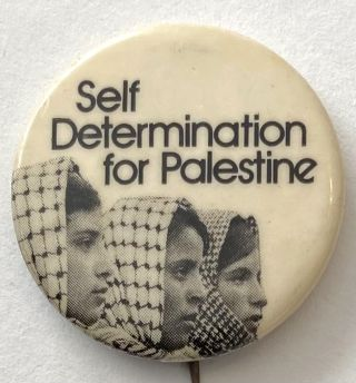 Self Determination for Palestine [pinback button