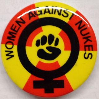Women Against Nukes [pinback button]