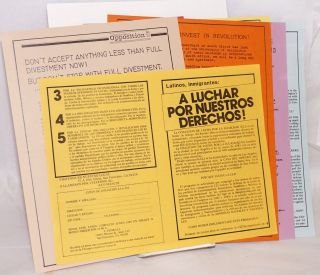 Group of eight handbills and related materials]. Internationalist Workers' Party, Fourth...