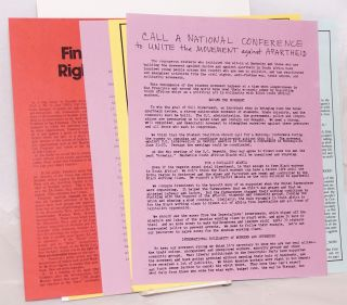 [Group of eight handbills and related materials]