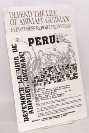 [Group of 7 different items in support of the Shining Path guerrillas in Peru]