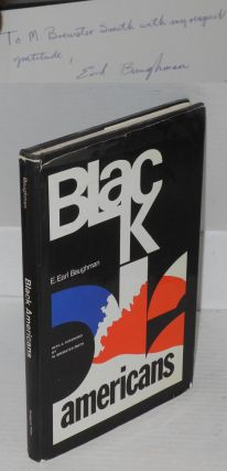 Black Americans; a psychological analysis, with a foreword by M. Brewster Smith. Emmett. Earl...