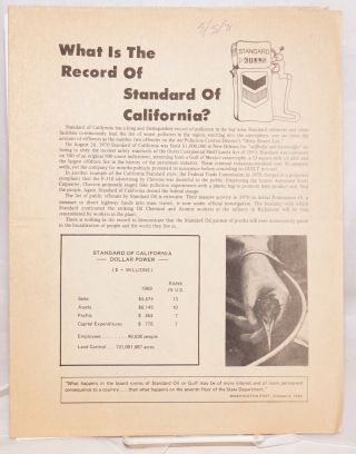 What is the record of Standard of California?