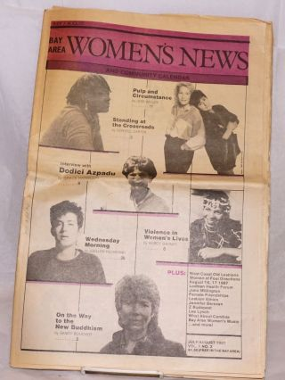 Bay Area Women's news and community calendar vol. 1, #3, July/August 1987. Susan Thompson,...