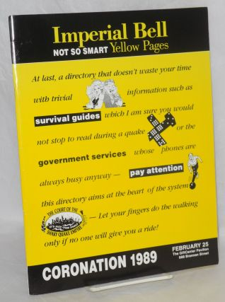 Coronation 1989: Imperial Bell; not so smart Yellow Pages February 25, The GiftCenter Pavillion