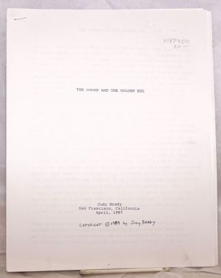 The goose and the golden egg (photocopy manuscript). Judy Brady