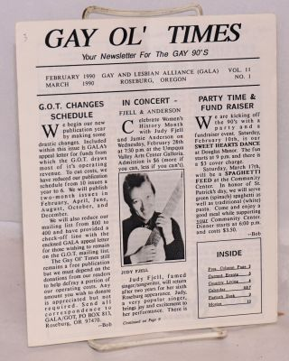 Gay Ol' Times: Gay and Lesbian Alliance newsletter; vol. 11, no. 1, February/March 1990