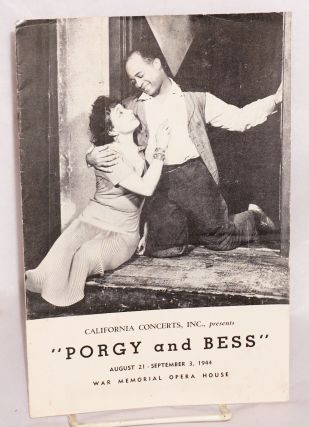 S. Hurok presents Cheryl Crawford's production of George Gershwin and Du Bose Heyward's Porgy and...
