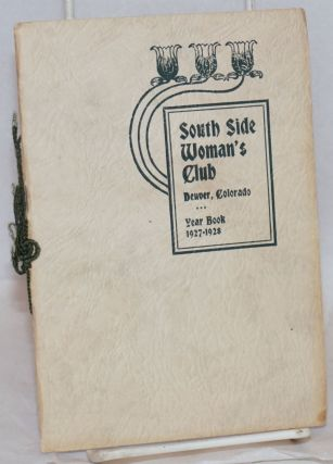 Year book. 1927-1928. Denver South Side Woman's Club