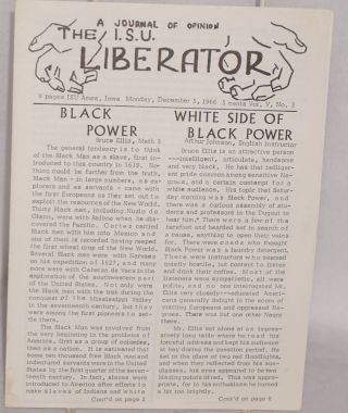 The ISU Liberator: a journal of opinion. Vol. V no. 3 (December 5, 1966