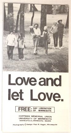 Love and let love [brochure]. FREE: Gay Liberation of Minnesota