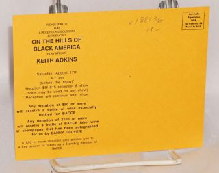 On the Hills of Black America by Keith Adkins, August 15-17 and August 23-25, [2002]