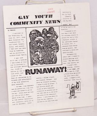 Gay Youth Community News: vol. 1, no. 2, Sept. 1979