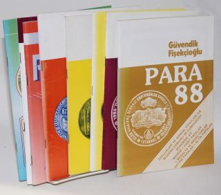 Para. [eight issues of the annual numismatic catalog]. Guvendik Fisekcioglu
