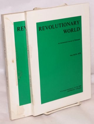 Revolutionary world, an international journal of philosophy [two issues: 33, 34/35