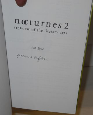 Nocturnes: (re)view of the literary arts, #2 & 3 [2 volumes]