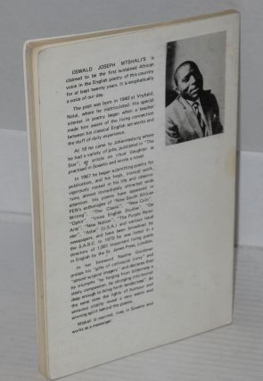 Sounds of a cowhide drum: poems. Foreword by Nadine Gordimer