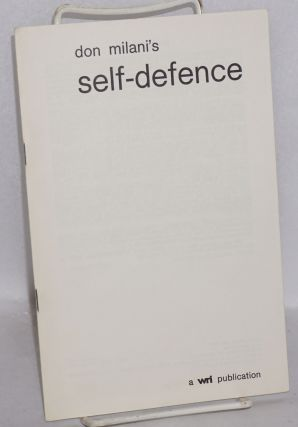 Don Milani's self-defence. Introduction by Devi Prasad, foreword by T.D. Roberts. Third edition....