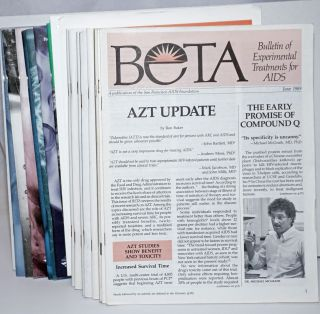 BETA: Bulletin of Experimental Treatments for AIDS; June 1989 - Summer 2008 (broken run of 21 issues and a summary sheet)