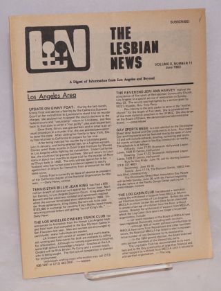 The Lesbian News: a digest of information from Los Angeles and beyond, vol. 8, #11, June 1983....