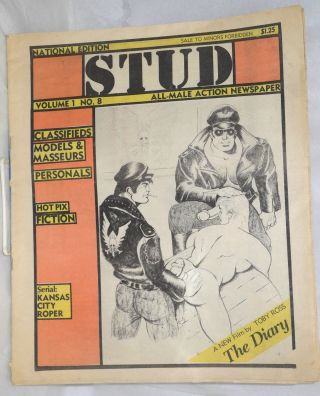 Stud: all-male action newspaper, vol. 1, no. 8, national edition. Raymond Anon, Sean, Dom...