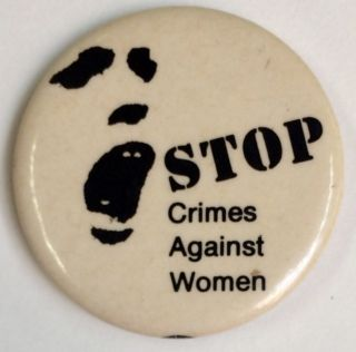 Stop crimes against women [pinback button