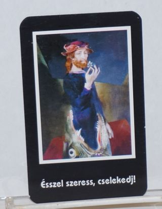 Ésszel Szeress, Cselekedj! [Try love, act!] [pocket calendar card for 1994
