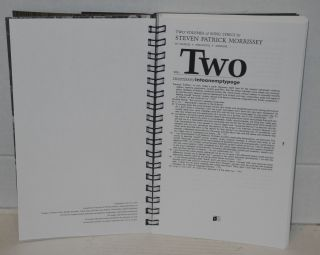Two volumes of song lyrics by Steven Patrick Morrissey with sources + anecdotes + appendix; vol. 1. the smiths assembletheways, vol. 2. Morrissey intoanemptycage