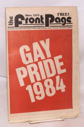 The Front Page: vol. 5, no. 11 June 26 - July 9, 1984; Gay Pride 1984. Jim Baxter, Allan Berube...