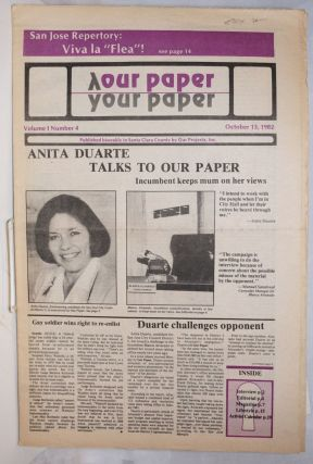 Our Paper, Your Paper; the gay family paper of the Santa Clara Valley; vol. 1, #4, October 13,...