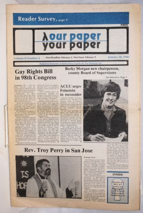 Our Paper, Your Paper; the gay family paper of the Santa Clara Valley; vol. 2, #2, January 26,...