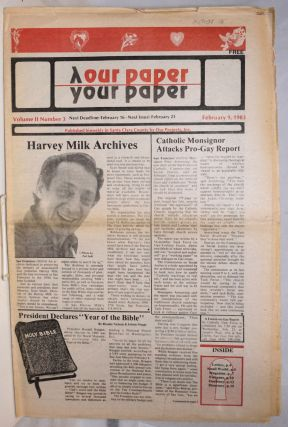 Our Paper, Your Paper; the gay family paper of the Santa Clara Valley; vol. 2, #3, February 9,...