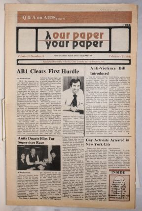Our Paper, Your Paper; the gay family paper of the Santa Clara Valley; vol. 2, #4, February 23,...
