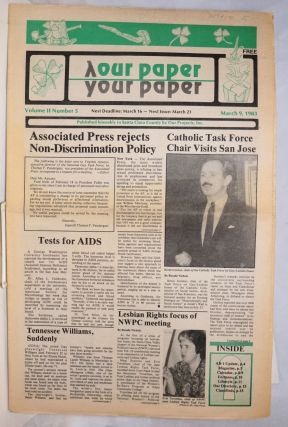 Our Paper, Your Paper; the gay family paper of the Santa Clara Valley; vol. 2, #5, March 9, 1983....