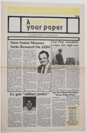 Our Paper, Your Paper; the gay family paper of the Santa Clara Valley; vol. 2, #6, March 23,...