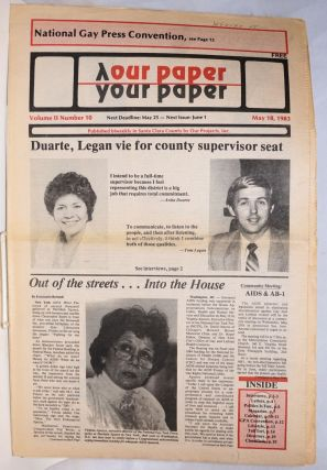 Our Paper, Your Paper; the gay family paper of the Santa Clara Valley; vol. 2, #10, May 18, 1983....
