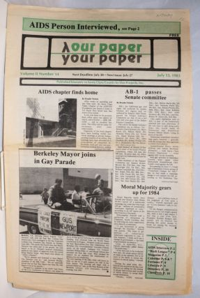 Our Paper, Your Paper; the gay family paper of the Santa Clara Valley; vol. 2, #14, July 13,...
