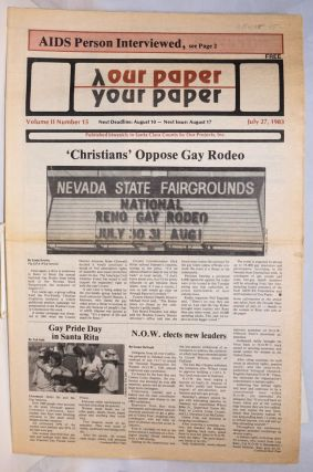 Our Paper, Your Paper; the gay family paper of the Santa Clara Valley; vol. 2, #15, July 27,...