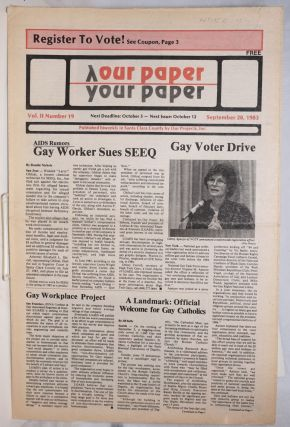 Our Paper, Your Paper; the gay family paper of the Santa Clara Valley; vol. 2, #19, September 28,...