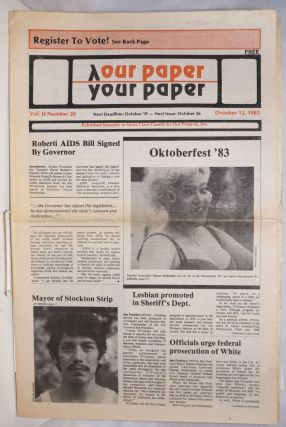 Our Paper, Your Paper; the gay family paper of the Santa Clara Valley; vol. 2, #20, October 12,...
