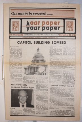 Our Paper, Your Paper; the gay family paper of the Santa Clara Valley; vol. 2, #23, November 23,...